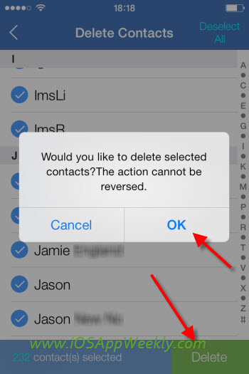 how to delete all your contacts on iphone 3