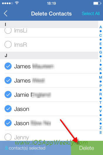 How to delete multiple or all contacts from iPhone? | iOS App Weekly